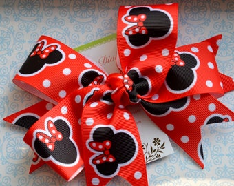 M2M Red Mouse XL Diva Bow