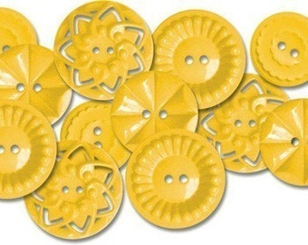 Jenni Bowlin - New Vintage Sew On Buttons - Yellow