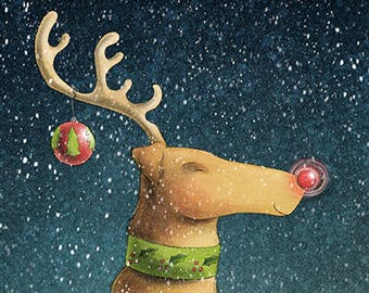 Original 5x7 Archival Print -- Rudolph