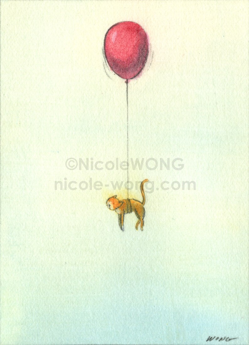 Original ACEO Drawing and Painting Floating
