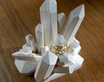 18k gold Arabesques ring