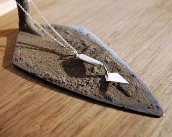 Tiny trowel pendant