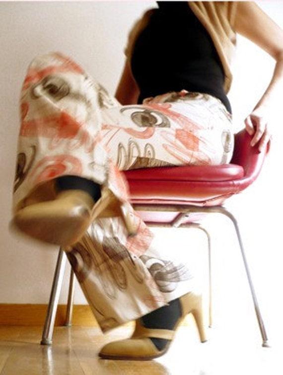 CUTE Vintage 70s PRINT PANTs - image 1
