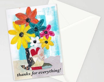 Etsy your place to buy and sell all things handmade thanks for everything 5x7 blank greeting card with envelope thank you notecard art card wholesale greeting card wholesale stationery m4hsunfo
