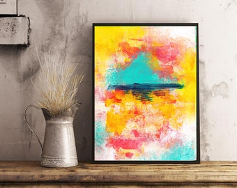 CLEMENTINE Printable Wall Art, Digital Download, Instant Art, Home Decor, Interior Design, Abstract Art, Canadian Artist