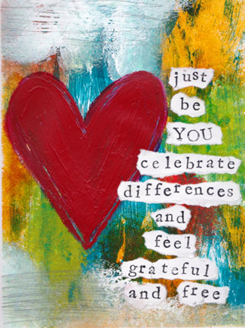 Celebrate Differences Mixed Media Art Print Unframed Art image 0