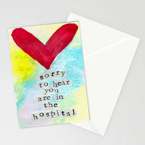 Stationery Get Well Soon Feel Better Empathy I Am Here for You Sometimes We Hurt 5x7 Blank Greeting Card with Envelope