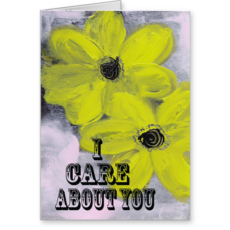 Friendship I Care About You 5x7 Blank Greeting Card with Envelope Feel Better Compassion Canadian Made Stationery Empathy