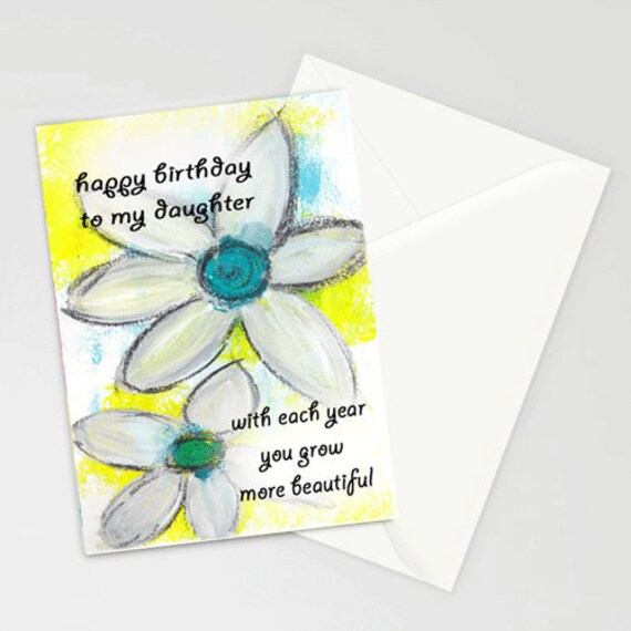 Happy Birthday To My Daughter 5x7 Blank Greeting