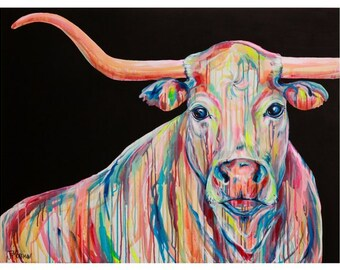 Giclee Print Legend Longhorn by Jennifer Moreman
