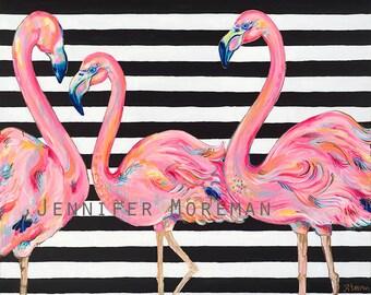 Pretty in Pink Original Painting by Jennifer Moreman