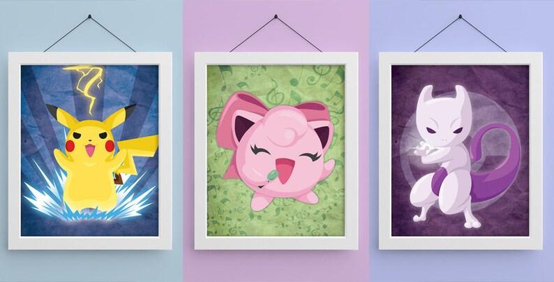 Pokemon 8x10 Prints image 0