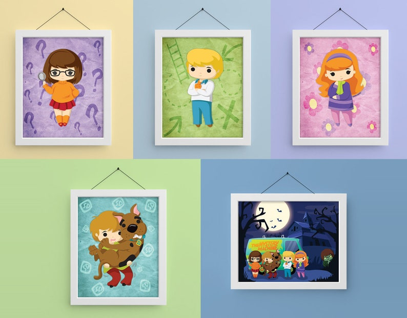 Scooby Gang 8x10 Prints image 0