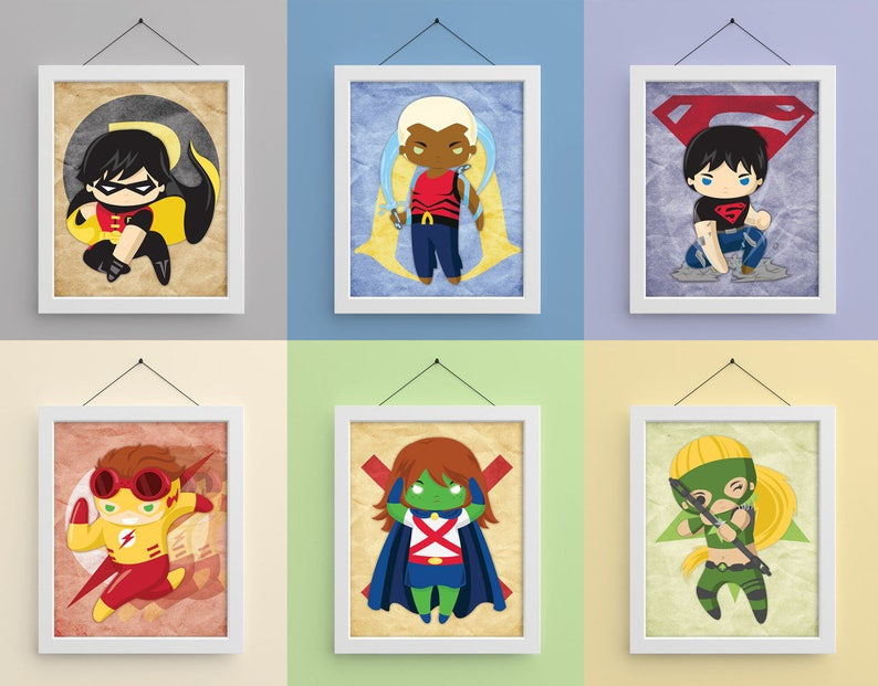 Young Justice 8x10 Prints image 0