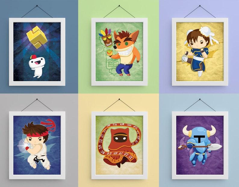 Video Game Heroes 8x10 Prints image 0