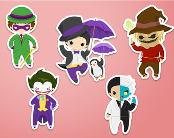 Gotham Villains Stickers