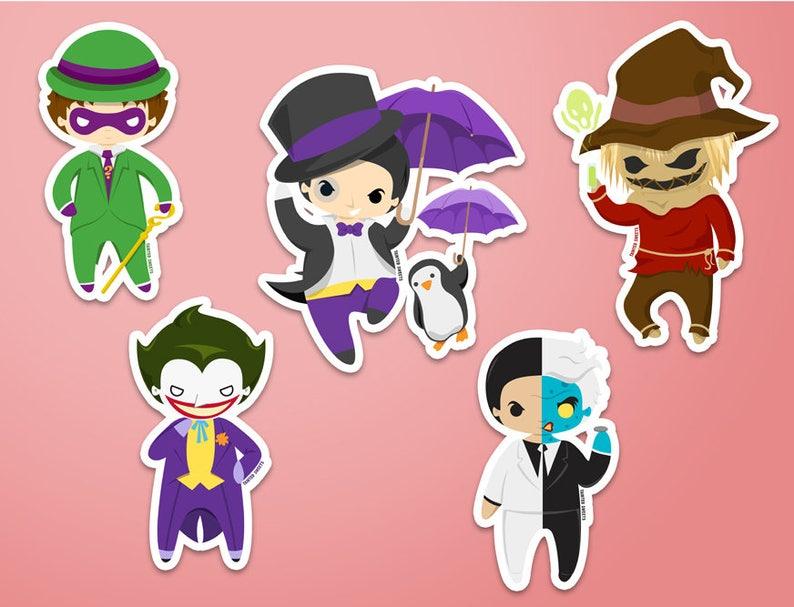Gotham Villains Stickers image 0