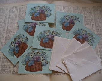 8 Vintage Blank Cards