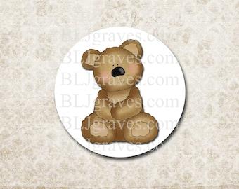 teddy bear stickers etsy