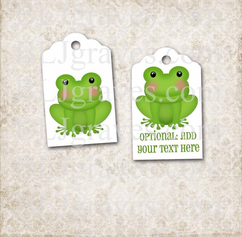 Frog Prince Tags Princess Party Tags Handmade Gift Tag Party image 0
