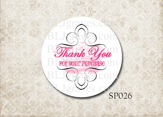 custom personalized business stickers thank you for your etsy