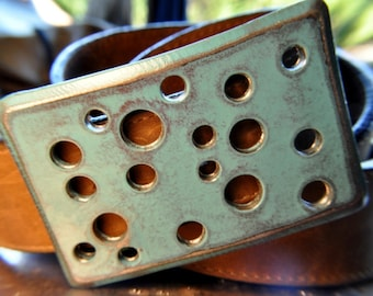 Square holes Teal