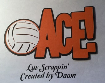 Volleyball Ace scrapbook title