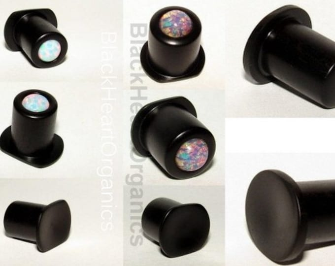 Custom Wood Labret, Conch, Top Hat, (2g / 6mm and larger), Organic Custom Jewelry Examples