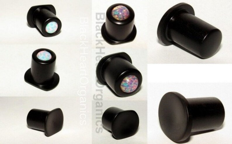 Custom Wood Labret Conch Top Hat 2g / 6mm and larger image 0