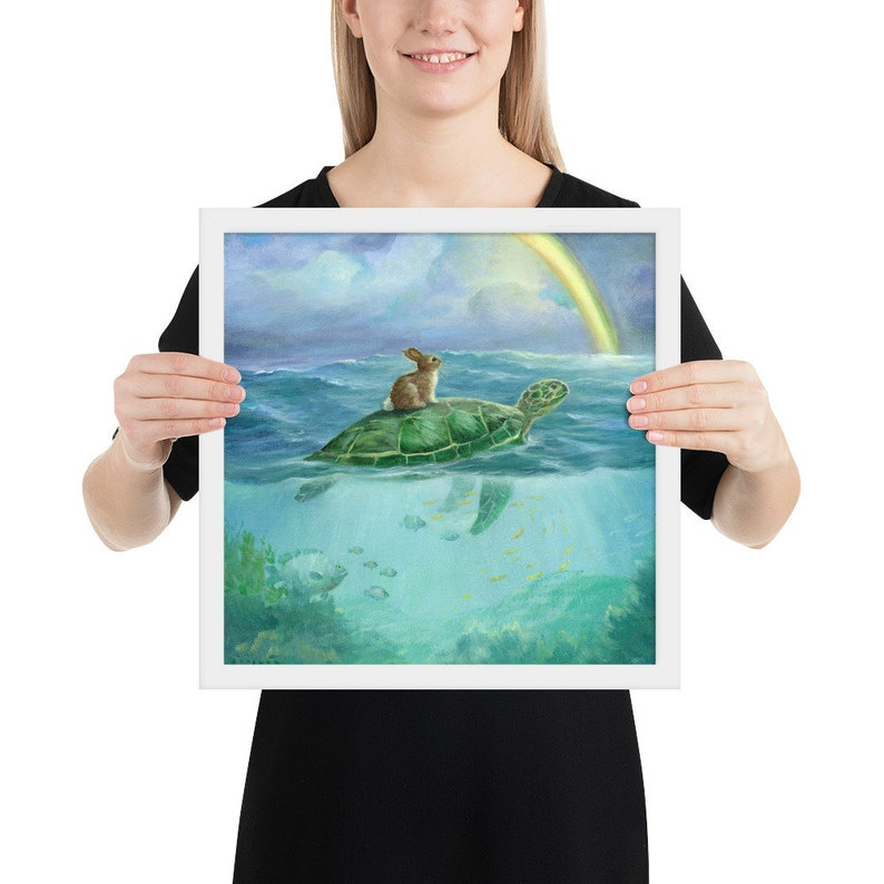 Isabella and The Turtle Framed poster