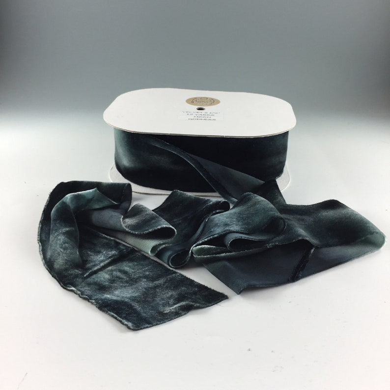 """SILK 1/"""" RIBBON on the BIAS HANAH Made in USA 1yd Hand Dyed"""