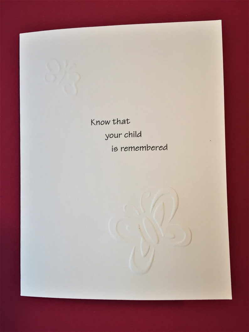Child Remembered Card / Miscarriage image 0