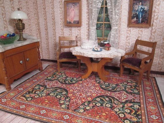 Antique Dollhouse Furniture Schneegas Golden Oak Turtle Top Etsy