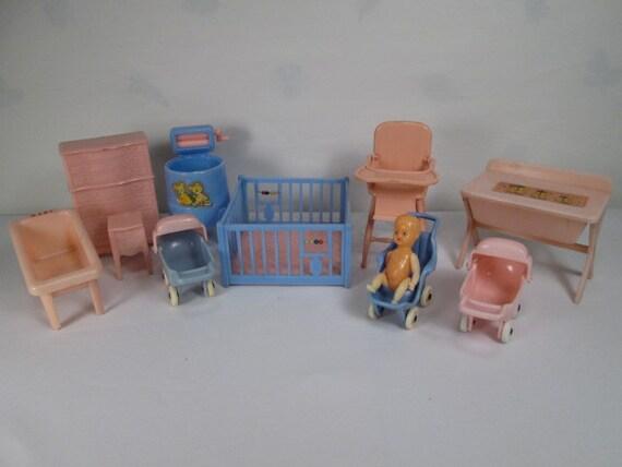 Vintage Plastic Dollhouse Furniture Renwal And Thomas Etsy