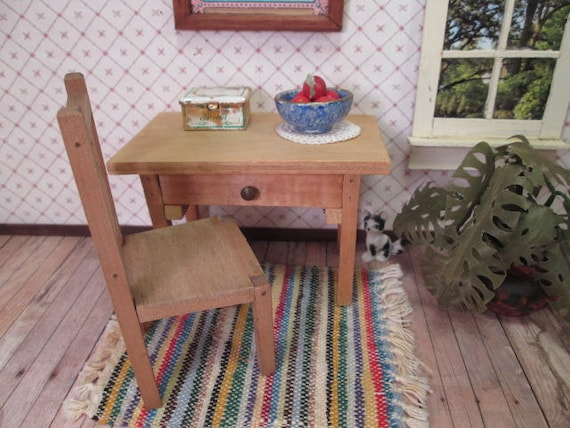 Vintage Wooden Dollhouse Furniture White House Etsy