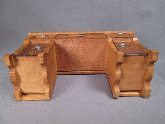 1//12 Skala Vintage Dollhouse Miniature Holztisch Schreibtisch mit Schubladen