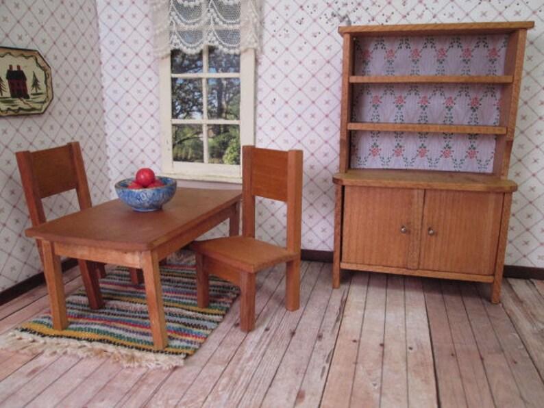Sedie E Tavoli Vintage.Dollhouse Vintage Mobili Tedesco Tavolo Da Pranzo 2 Sedie E Etsy