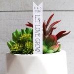 Let Love Grow Succulent Tag | Succulent Stakes | Wedding Favors | Bridal Shower Favor | Plant Stakes | Succulent Favor | Favor Tags (S002)