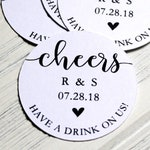 Drink Token | Drink Ticket | Wedding Bar Ticket | Cheers | Have One On Us | Wedding Tag | Free Drink | Bar Ticket | Favor Tags (TOK001)