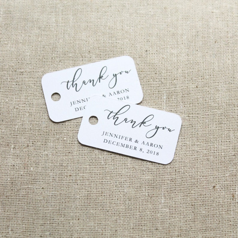 Thank You Tags  Thank You Favor Tags  Wedding Favors  image 0