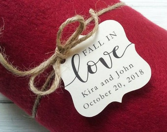 Fall in Love Tag | Blanket Favors | Wedding Favors | Favor Tags | Reception Favors | Fall Wedding Favor (010)