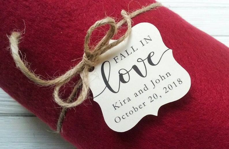 Fall in Love Tag  Blanket Favors  Wedding Favors  Favor image 0