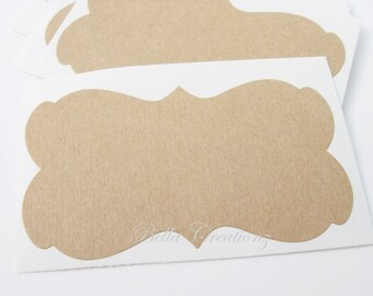 Kraft Decorative Label Stickers - Set of 12
