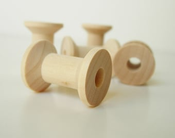 5 Lil'  Wood Spools ....... PERFECT for Bakers Twine, Ribbon, or String
