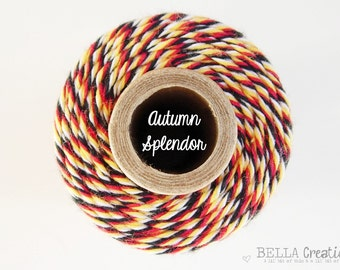 CLEARANCE - Autumn Splendor Bakers Twine by Timeless Twine - 1 Spool (160 Yards)