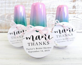 Mani Thanks Tag | Nail PolishTags | Wedding Favors | Bridal Shower Favor | Baby Shower Favors | Favor Tags l Thank You Favor Tags (MT001)