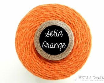 SUPER SALE - Solid Orange Bakers Twine by Timeless Twine