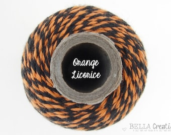 Limited Release - Halloween Bakers Twine-  Orange Licorice Timeless Twine