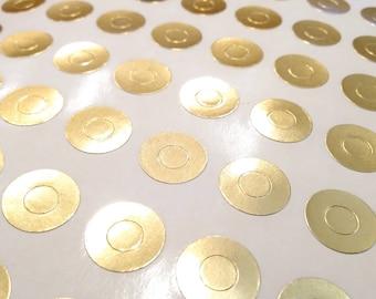 Metallic Gold Reinforcement Stickers - Gold Planner Stickers - Gold Reinforcement Holes