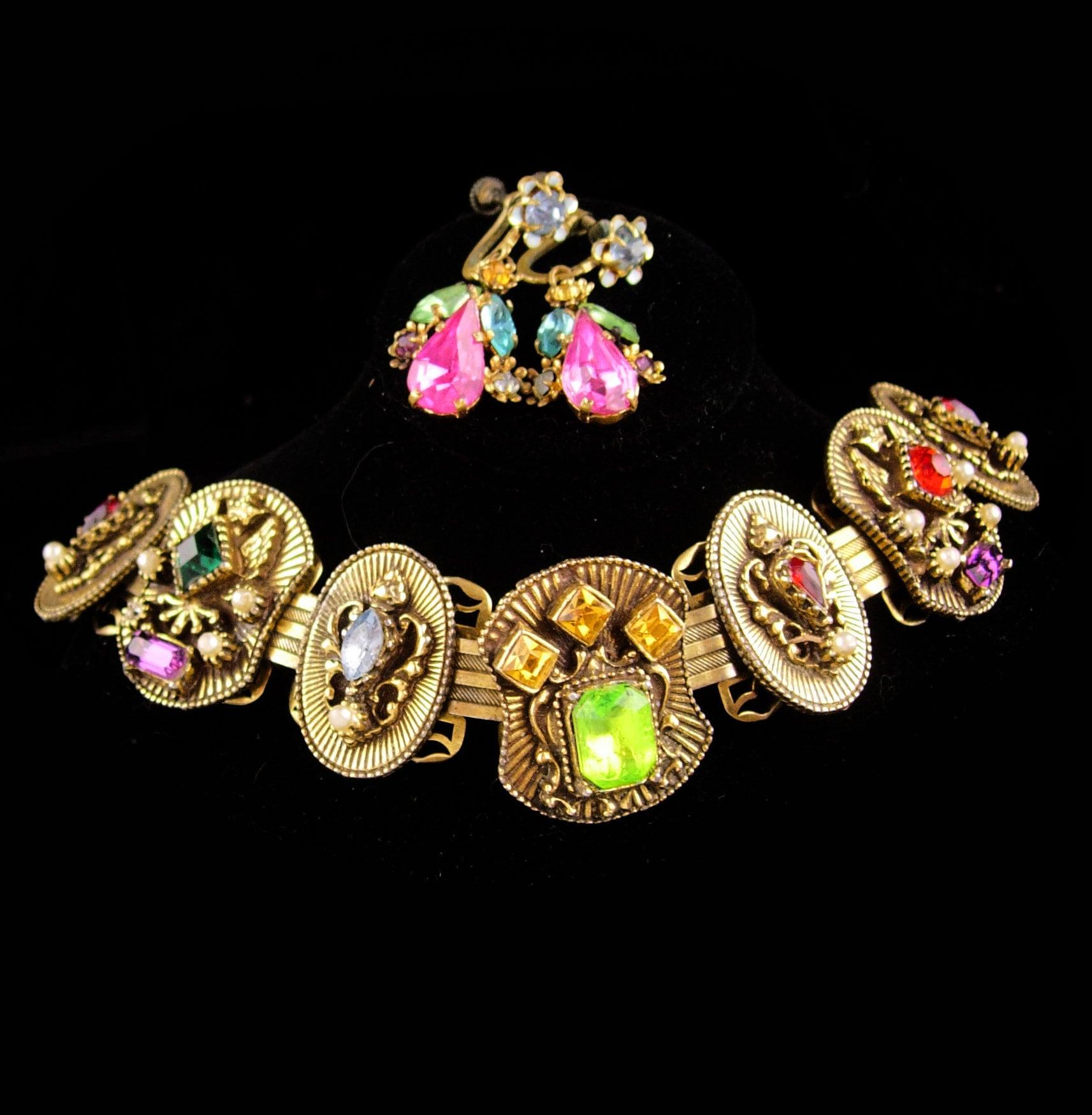 8297e938e Antique Bookchain bracelet / Victorian bracelet / Edwardian | Etsy